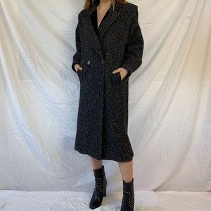 Vintage Tweed Overcoat